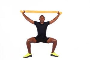 towel squat exercise