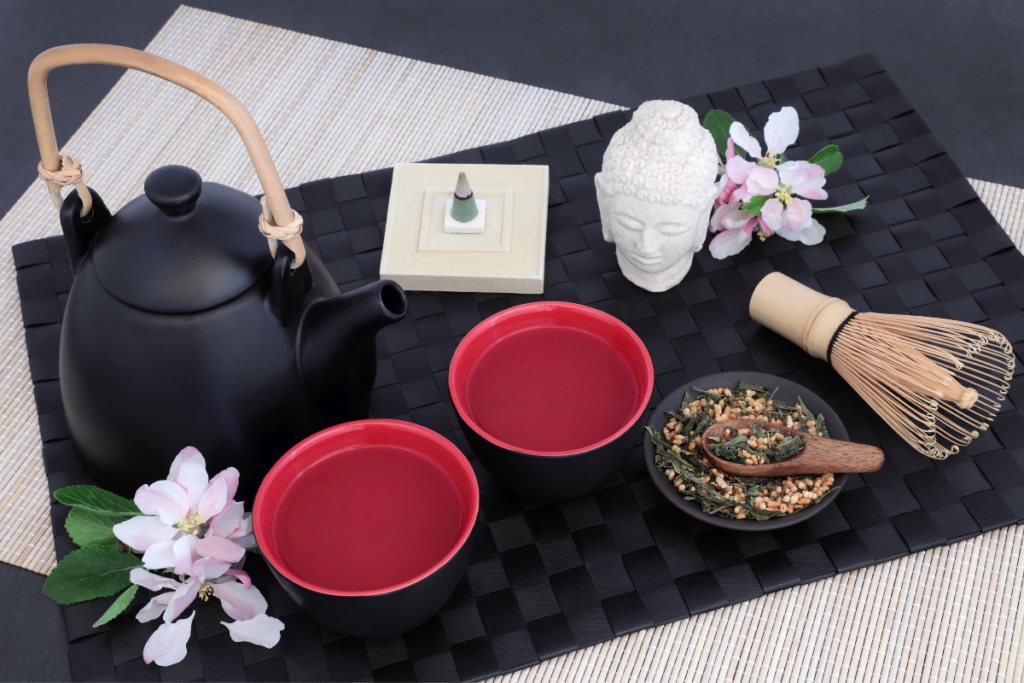 genmaicha tea table