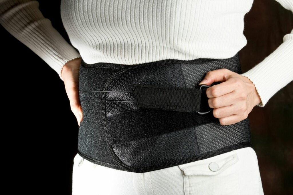 wearing Postpartum support belt